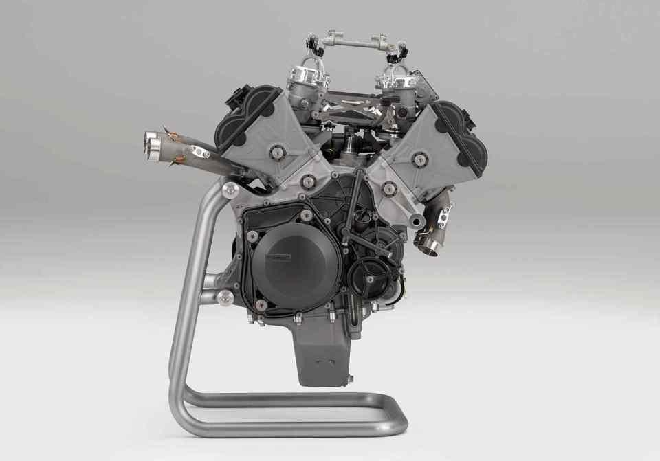 Priblížený pohľad na motor motocykla RC213V-S