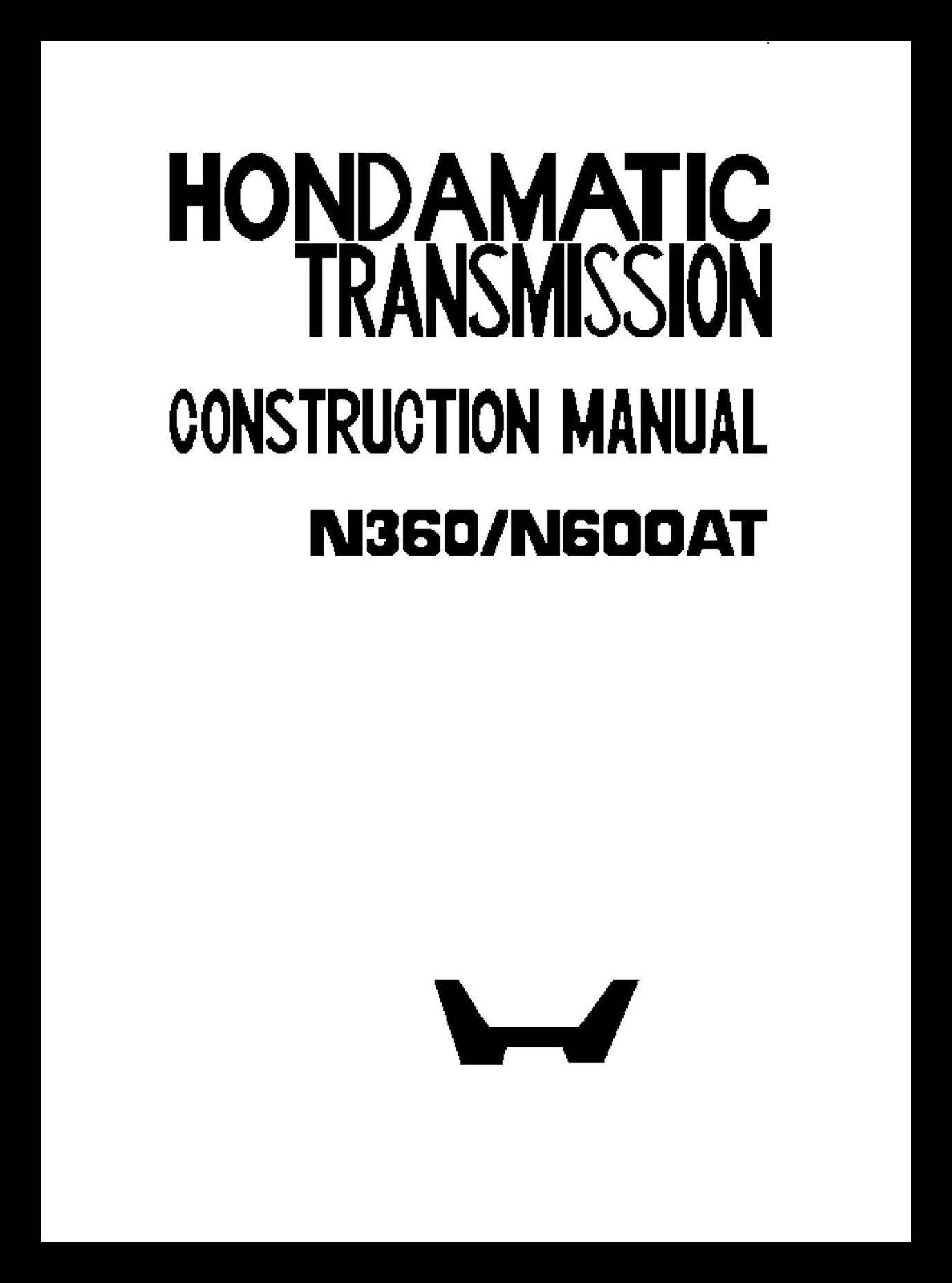 Repair Manual Honda N600 Sedan Z600 Coupe Car Parts An600