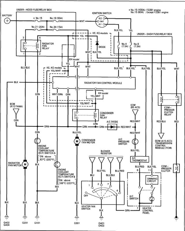 honda accord ac wiring schematic  buck boost wiring diagram