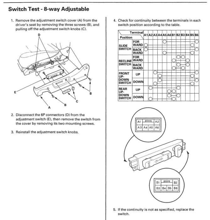 1999 honda accord power seat wiring diagram  pietrodavico