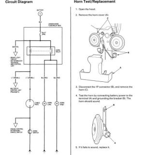 Wiring diagram available for tracing horn wire?  Honda