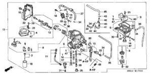 400Ex Carburetor vacuum hose line question  Honda ATV Forum