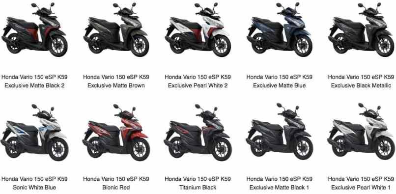 Honda Vario 150 Esp K59 Pilihan Model Warna