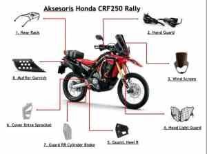 Aksesoris Resmi Honda CRF250 Rally   Honda Genuine Parts