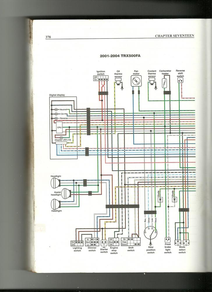 Wiring Diagram Needs For 01 Rubicon 500