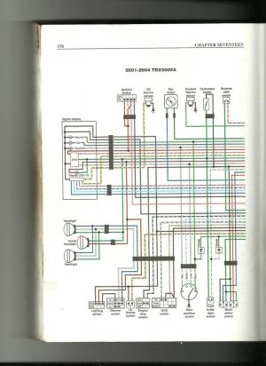 wiring diagram needs for 01 rubicon 500  Honda Foreman