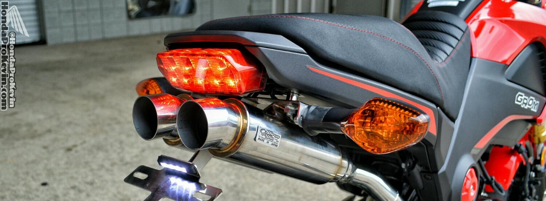 honda grom msx dual exhaust review