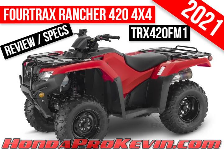 2021 honda rancher 420 4x4 atv review
