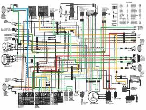 1982 CM450E color wiring diagram