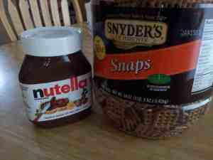 A Not Full Core Snack - this is why I need to #StopSnacking. Nutella and pretzels are dangerous