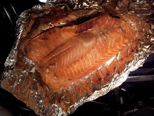 Soy Ginger Salmon ready to eat
