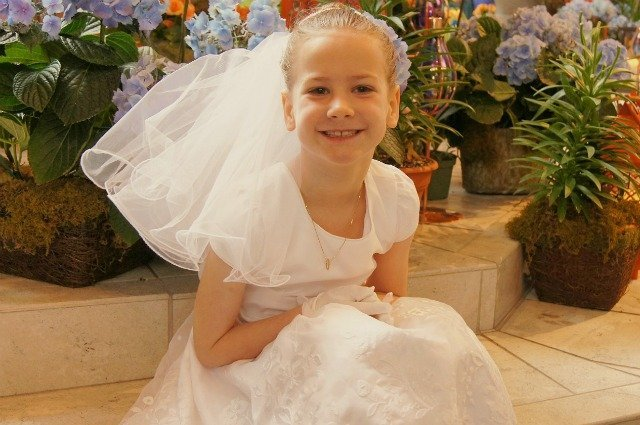 Little Miss ready for her First Communion