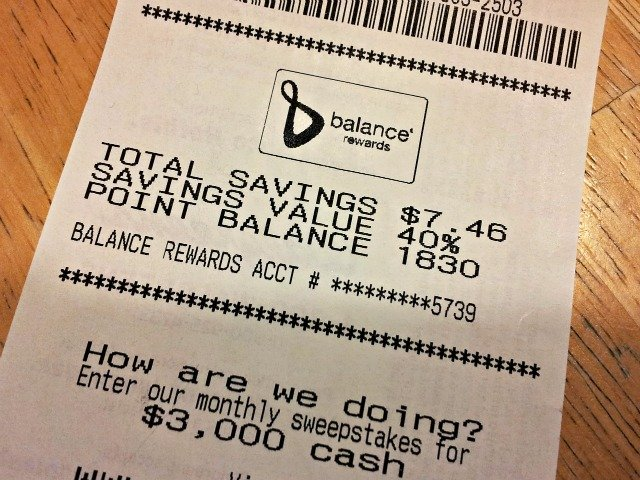 Significant savings plus $2 balance register rewards