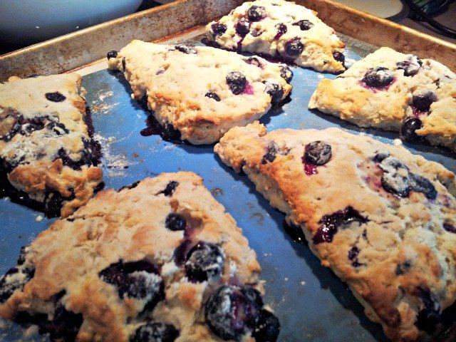 Scones are done when they are a beautiful golden brown