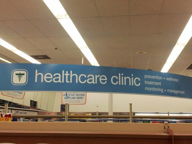 Interior sign for Walgreens #healthcareclinic #shop