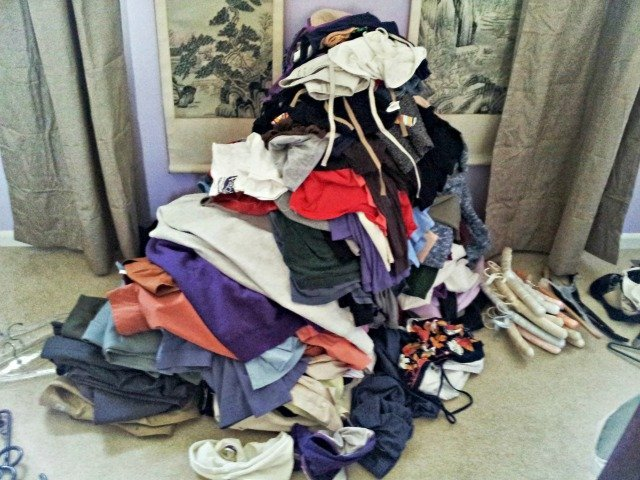 Pile of clothes that don't fit