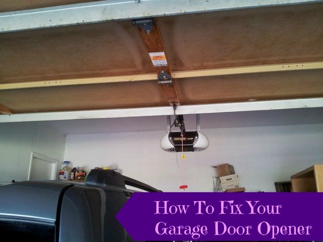 How to reengage your garage door opener