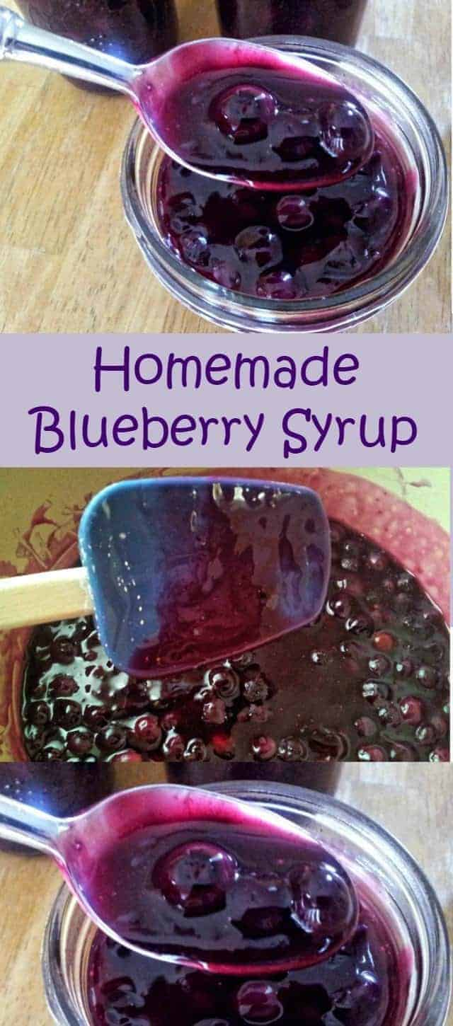 Homemade blueberry syrup recipe for blueberry pancakes, blueberry waffles, over ice cream for dessert and more. 4 ingredients and ready in 30 minutes, this is a quick cooking breakfast treat.