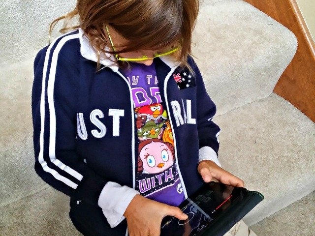Little Miss had time to play Mine Craft on her Kindle because she finished her to do list