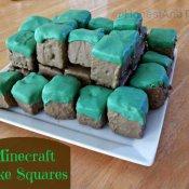 Minecraft Cake Squares tutorial