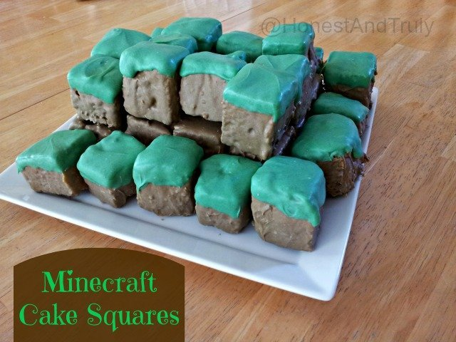 Minecraft Cake Squares tutorial