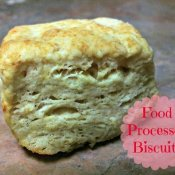 Fluffy biscuit made with a food processor