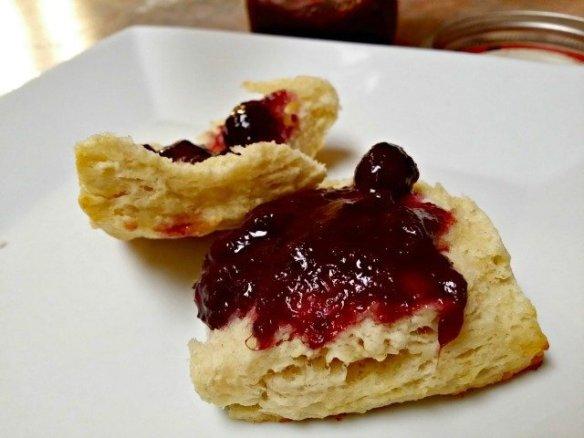 Food processor biscuits with jam
