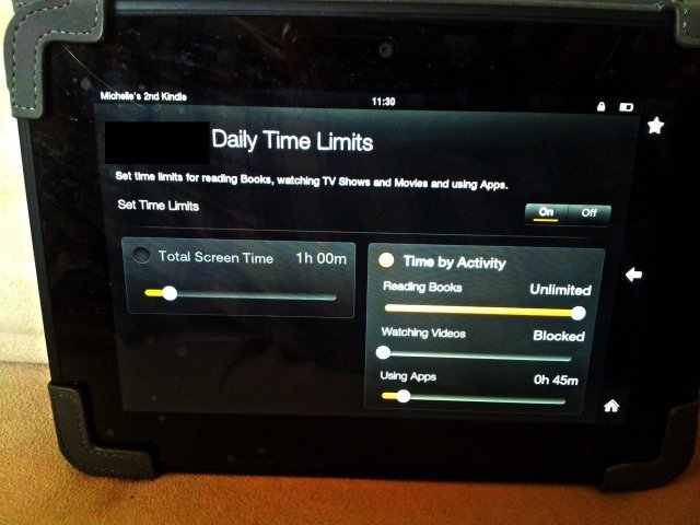 Flexible limits for Kindle Free Time
