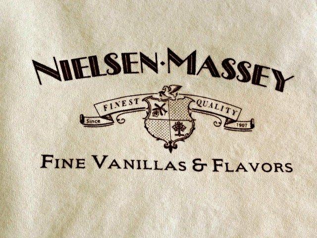 napkin showing neilsen-massey logo