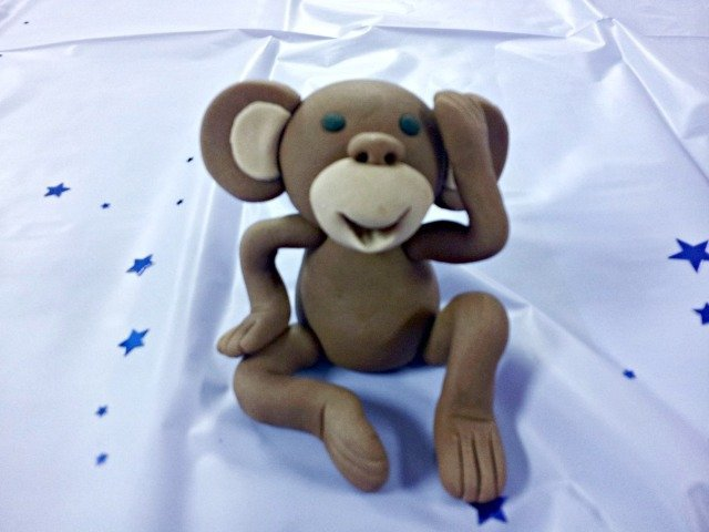 monkey made from WIlton Shape-n-Amaze dough