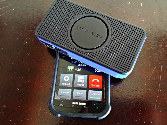 Use Carbon Audio pocket speakers as your phone's Bluetooth device