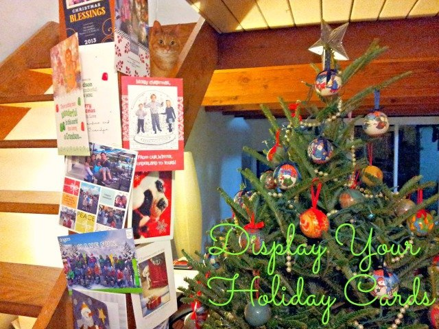 How to display your holiday cards