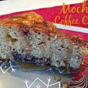 Mocha coffee cake recipe plated