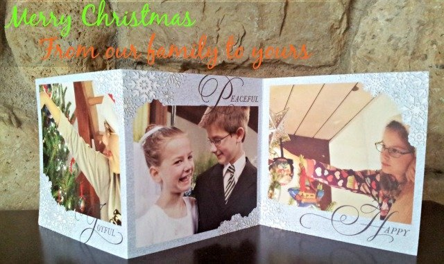 Tiny Prints trifold Christmas Card