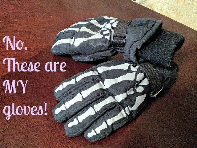 My husband stole gloves from the lost and found - and got caught
