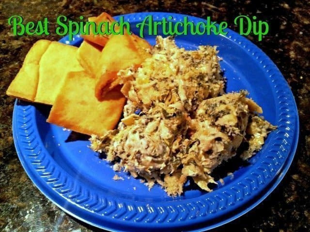 Easy and healthy hot spinach artichoke dip - the best you'll ever eat!