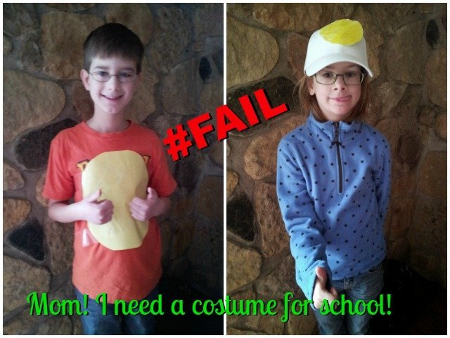 When your children ask you to make a costume for them, you now know who NOT to ask