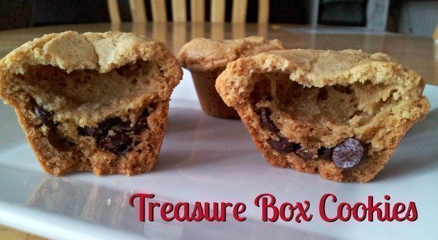 Treasure box cookie recipe - cookies that look plain on the outside but have a fun secret treasure inside!