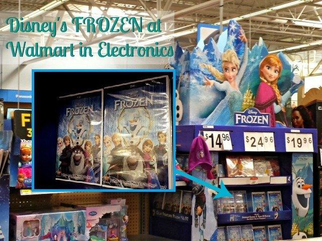 Finding FROZEN at Walmart in the Electronics section