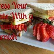 How to make a strawberry garnish