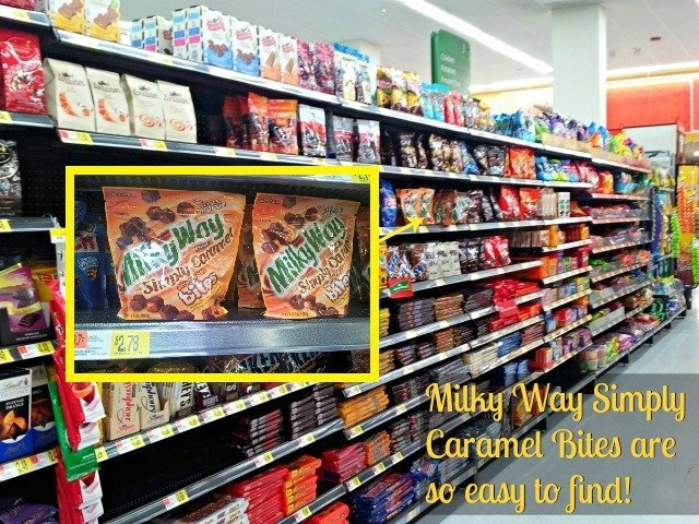It's easy to find Milky Way Simply Caramel Bites on the shelves at Walmart so you can #EatMoreBites #shop