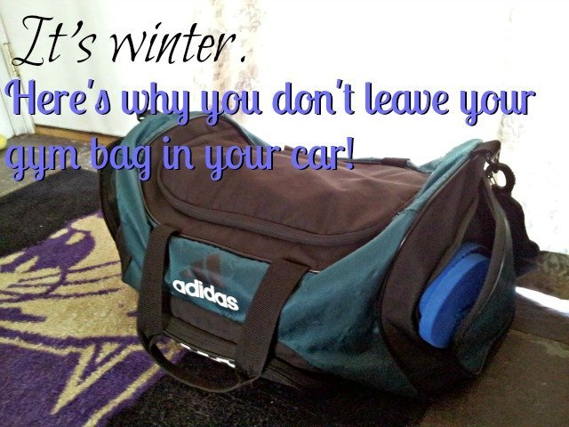 Why you can't leave your gym bag in your car during a Chicago winter