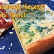 Homemade roasted garlic bread recipe