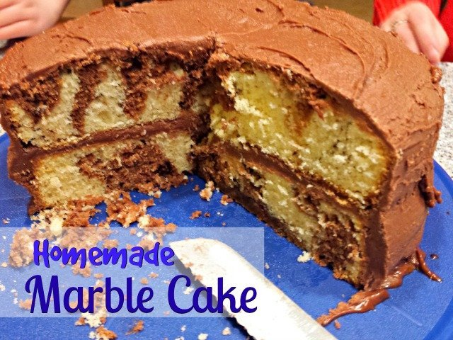 Marble Cake Recipes In Microwave: Homemade Marble Cake