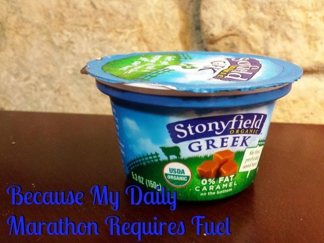 It may not be the Boston Marathon, but my daily life is its own version. The perfect fuel for me? Stonyfield Greek Yogurt