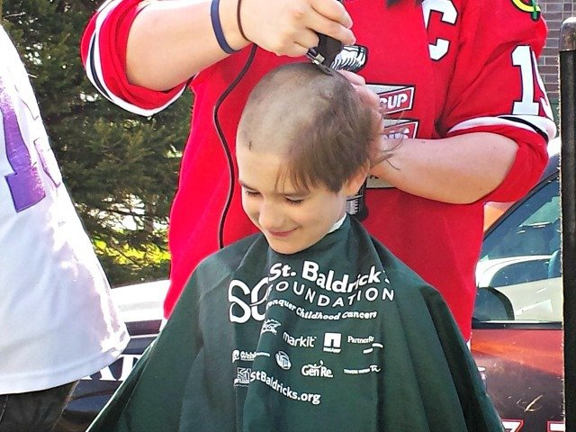 In the middle of a shave for St Baldricks