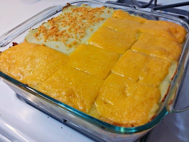 Shepherd's pie needs to rest for 10-15 minutes after baking before serving