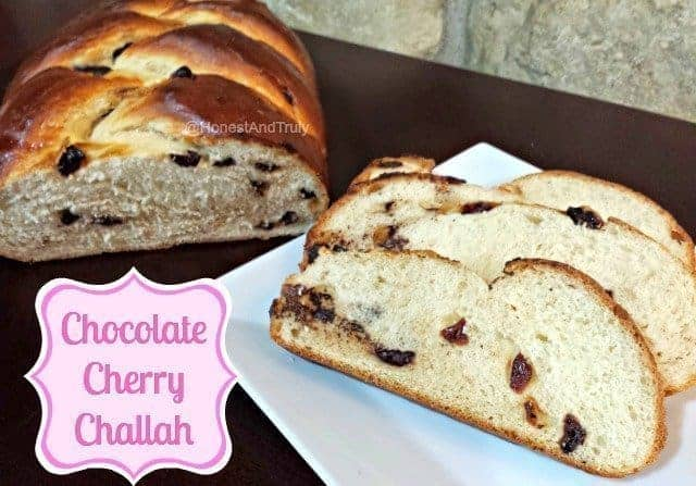 Making a sweet bread even sweeter with this Chocolate Cherry Challah recipe!