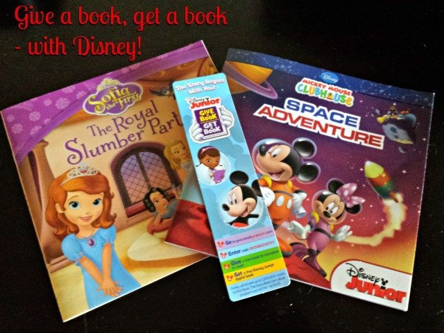 Disney Juniors Give a Book Get a Book program will donate up to 1 million books to children in need