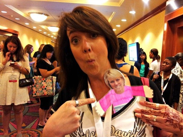 Hanging with Flat Sue at BlogHer